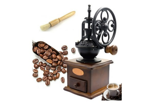 Fecihor Manual Coffee Grinder With Grind Settings and Catch Drawer